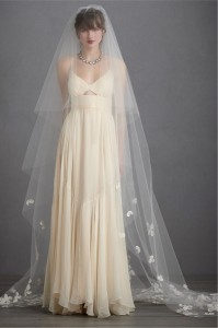 church style of wedding veil