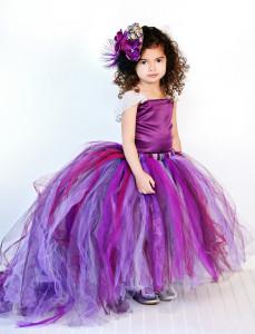 colored purple flower girl dress
