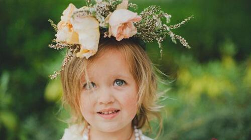 lovely girl with flower