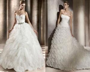 luxury A-line wedding dress