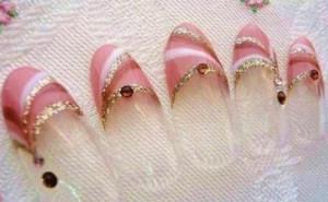 pink bride nail