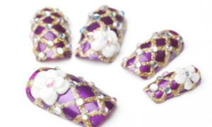 purple bride nail