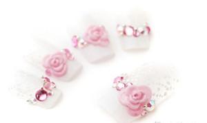 rose bride nail