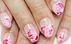 rose bride nails