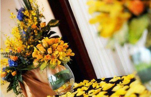 yellow rose wedding theme