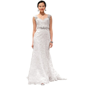 Eve of Milady a-line floor wedding dress