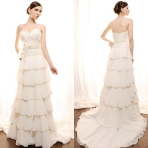 top chiffon font wedding dress