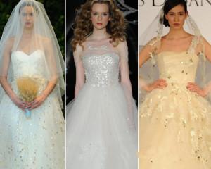 Textured fabrics wedding dresses
