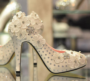 beige wedding shoes