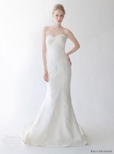 strapless and mermaid wedding dress