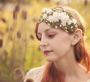 The white jasmine flower hair accessories