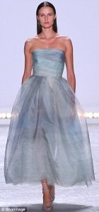 gray long evening dress