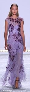 purple beading long evening dress_