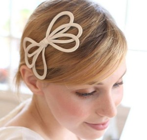 simple bow hair accessories