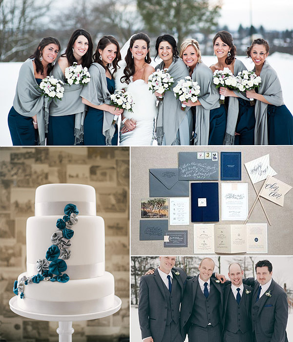 blue and grey wedding background