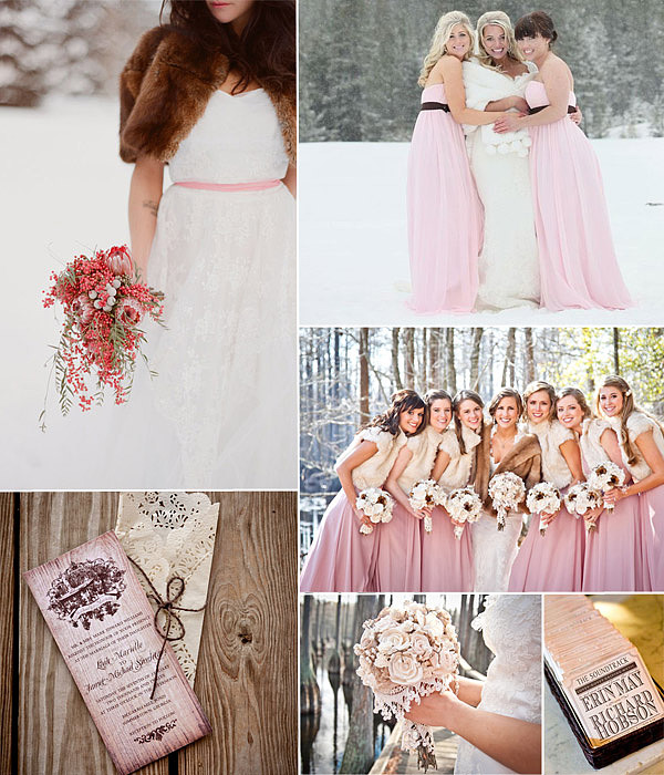 pink and brown wedding background