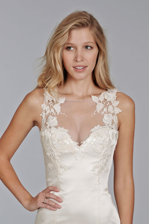 illusion wedding neckline