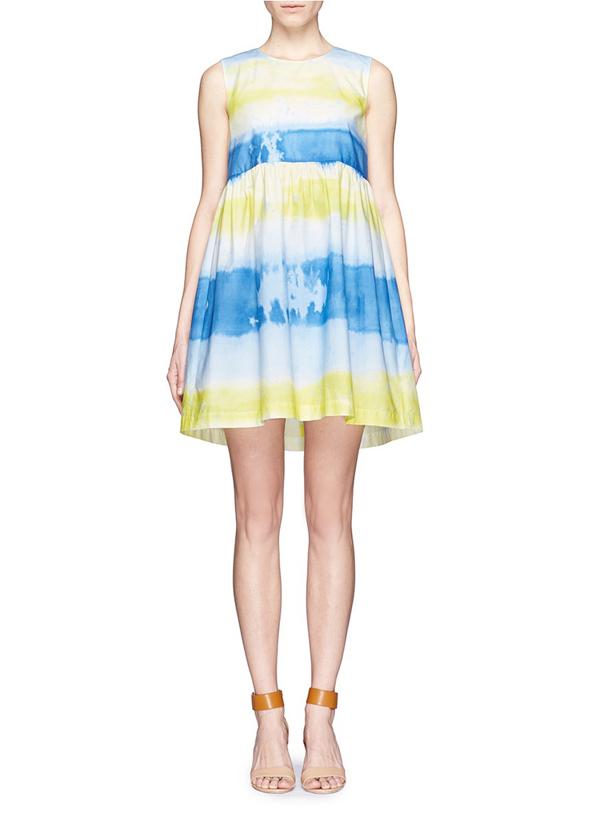 cute empire fluffy skirt formal dress