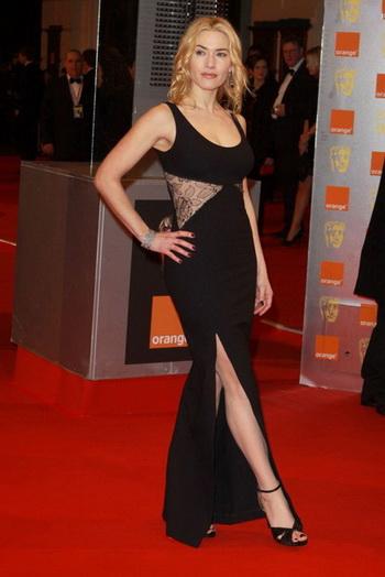 kate sexy Evening Dress at BAFTA Award