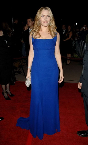 kate winslet blue prom gown