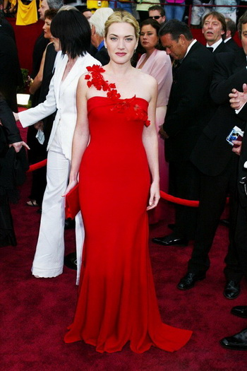 kate winslet red prom dress at 2002 Oscar