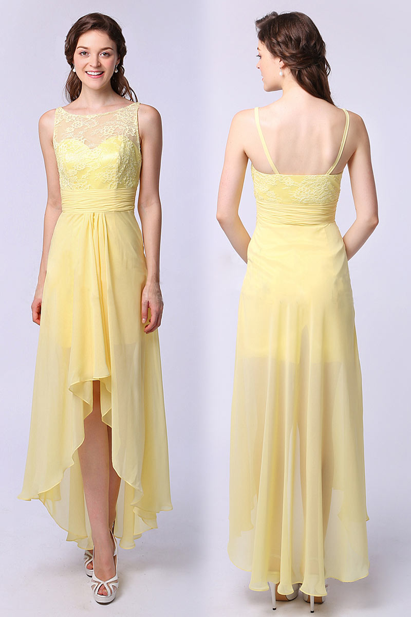 cheap yellow Bridesmaid Dresses UK