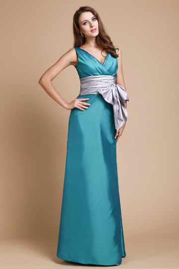 buy cheap green bridesmaid dresses with V neck