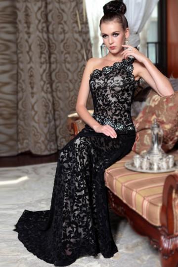 buy discount black lace bridesmaid dresses UK  online