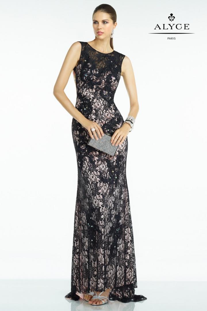 vestido-entallado-de-encaje-en-color-negro-97322